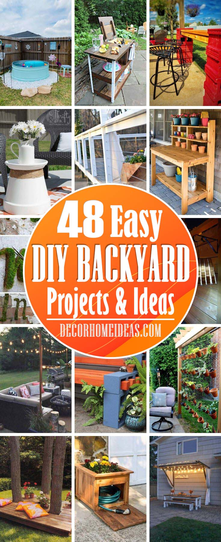 Best DIY Backyard Projects And Ideas. Creative DIY projects and ideas for your garden or backyard. Build your own pool, bar or pergola with these ideas. #diy #backyard #garden #projects #decorhomeideas