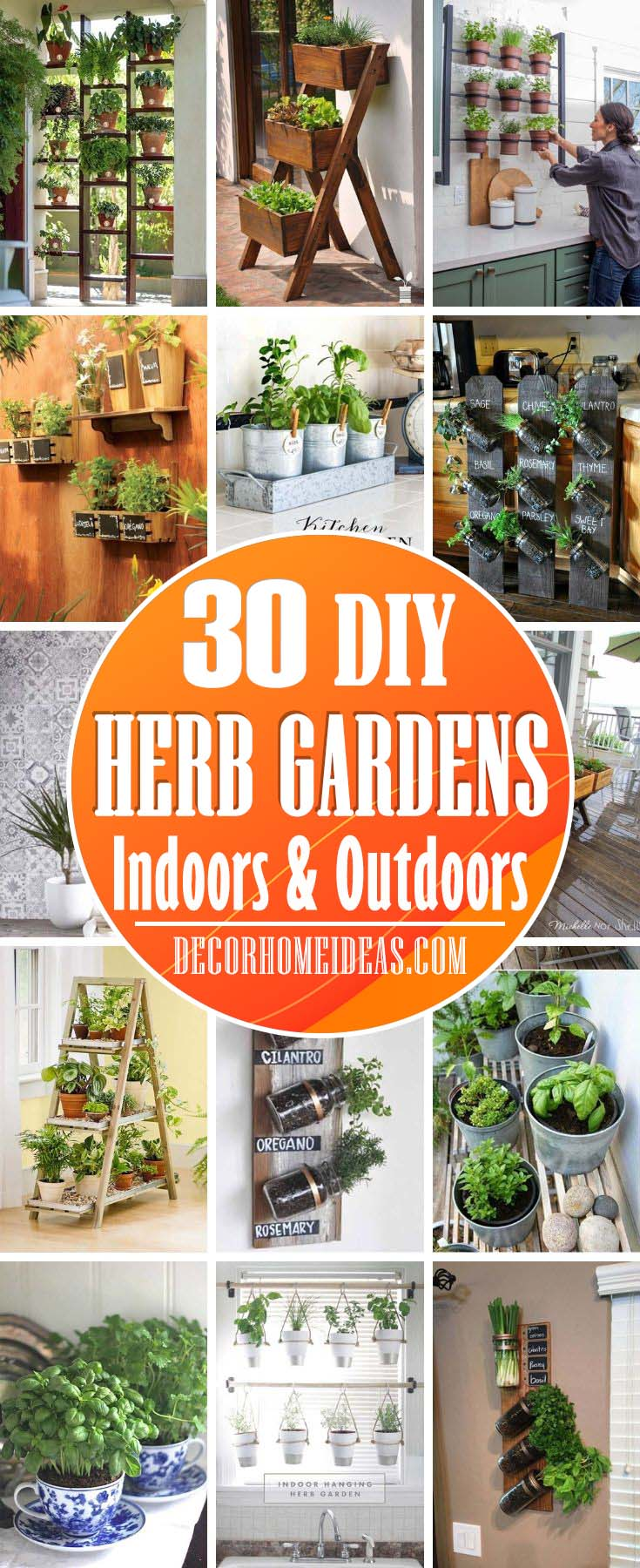 Best DIY Herb Garden Ideas For Indoors And Outdoors. Create a special place for your herbs and display them neatly and with style. #herbs #display #diy #decorhomeideas