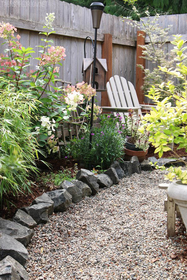 Big Rocks Garden Bed Edging