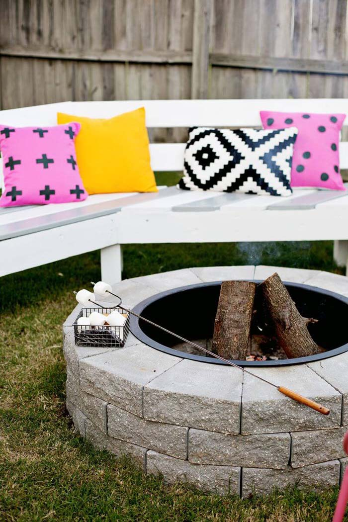 Big Sur Style Fire Pit #diy #project #backyard #garden #decorhomeideas