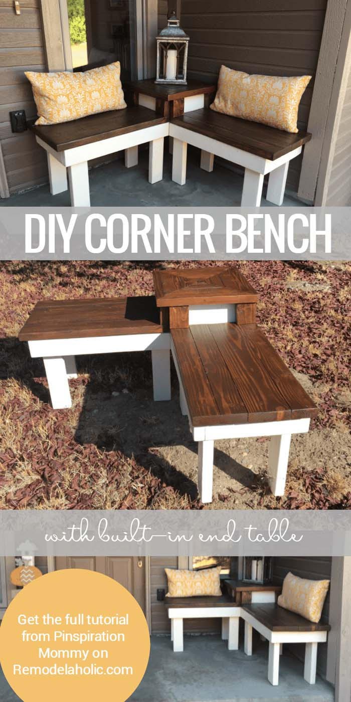 Build Your Own Perfect Corner Bench #diy #porch #patio #projects #colorful #decorhomeideas
