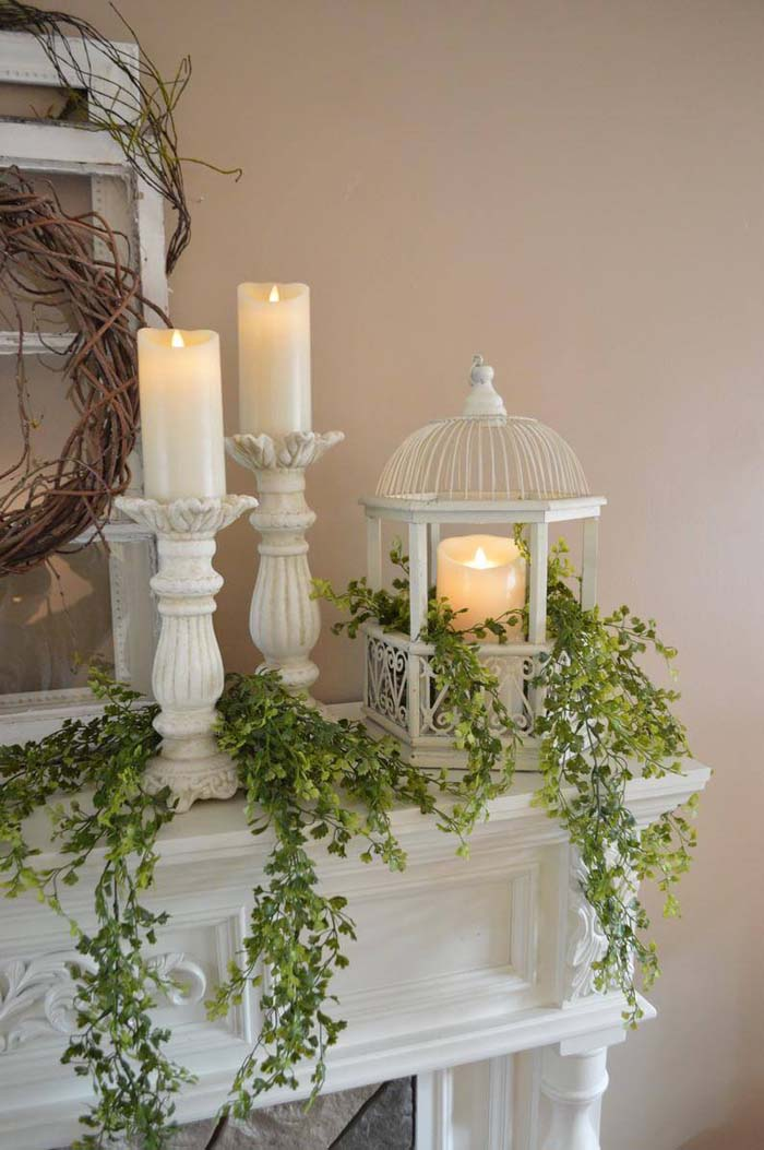 Cascading Greenery Summer Home Decoration #diy #rustic #summer #decorations #decorhomeideas