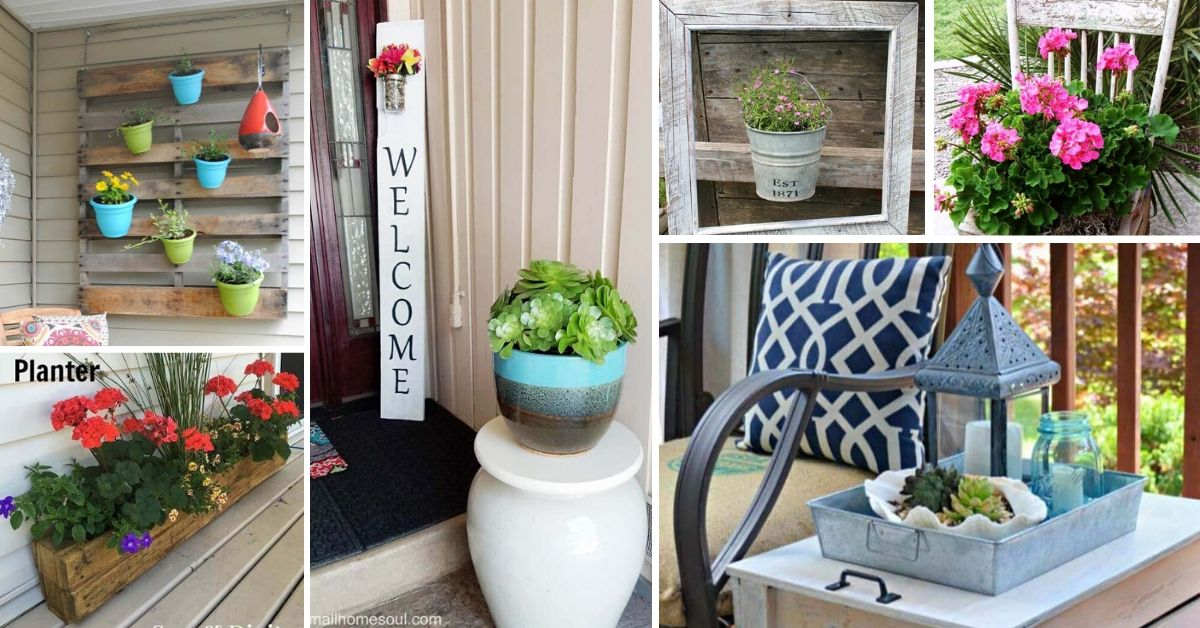 Colorful Porch And Patio DIY Projects