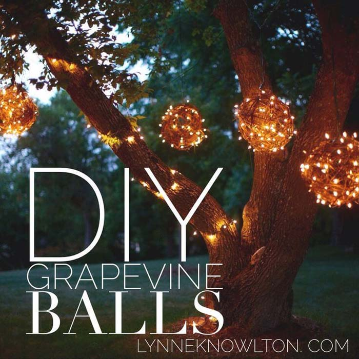Country Cosmos Handmade Grapevine Balls #diy #project #backyard #garden #decorhomeideas