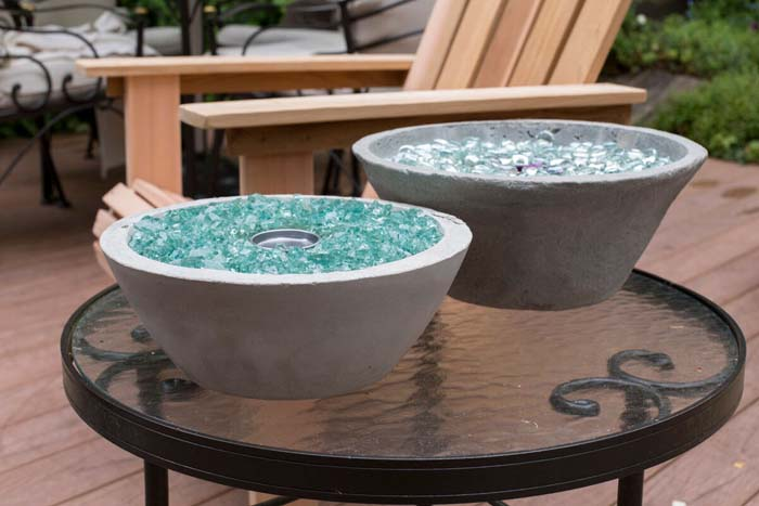 Create a Fire Bowl from Anything #diy #porch #patio #projects #colorful #decorhomeideas