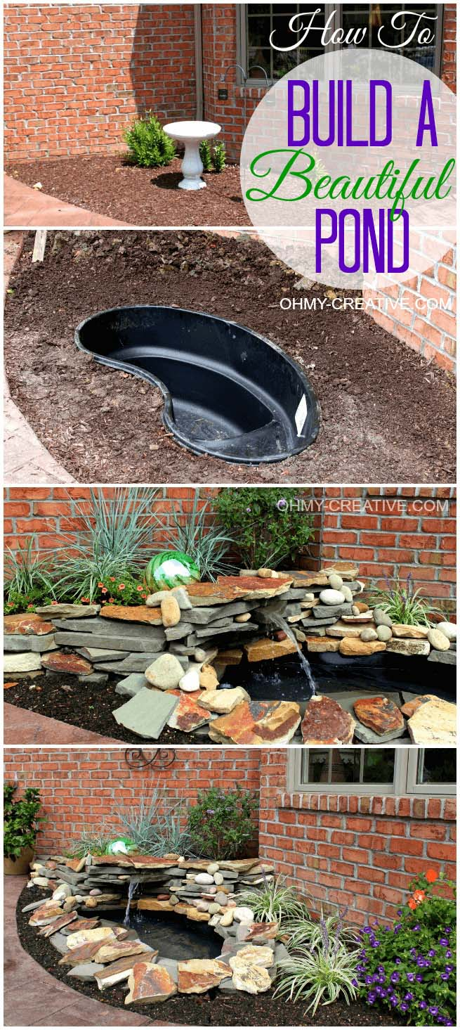 DIY Backyard Pond Ideas for Small Spaces #pond #diy #garden #waterfeature #decorhomeideas