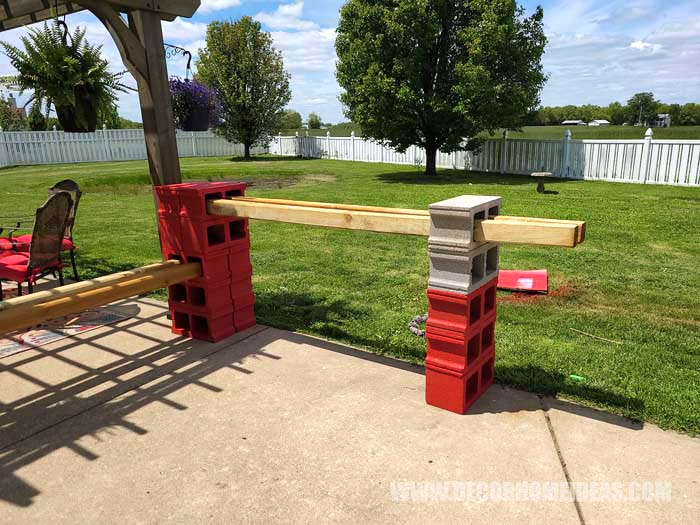 Diy Cinder Blocks Bar 1