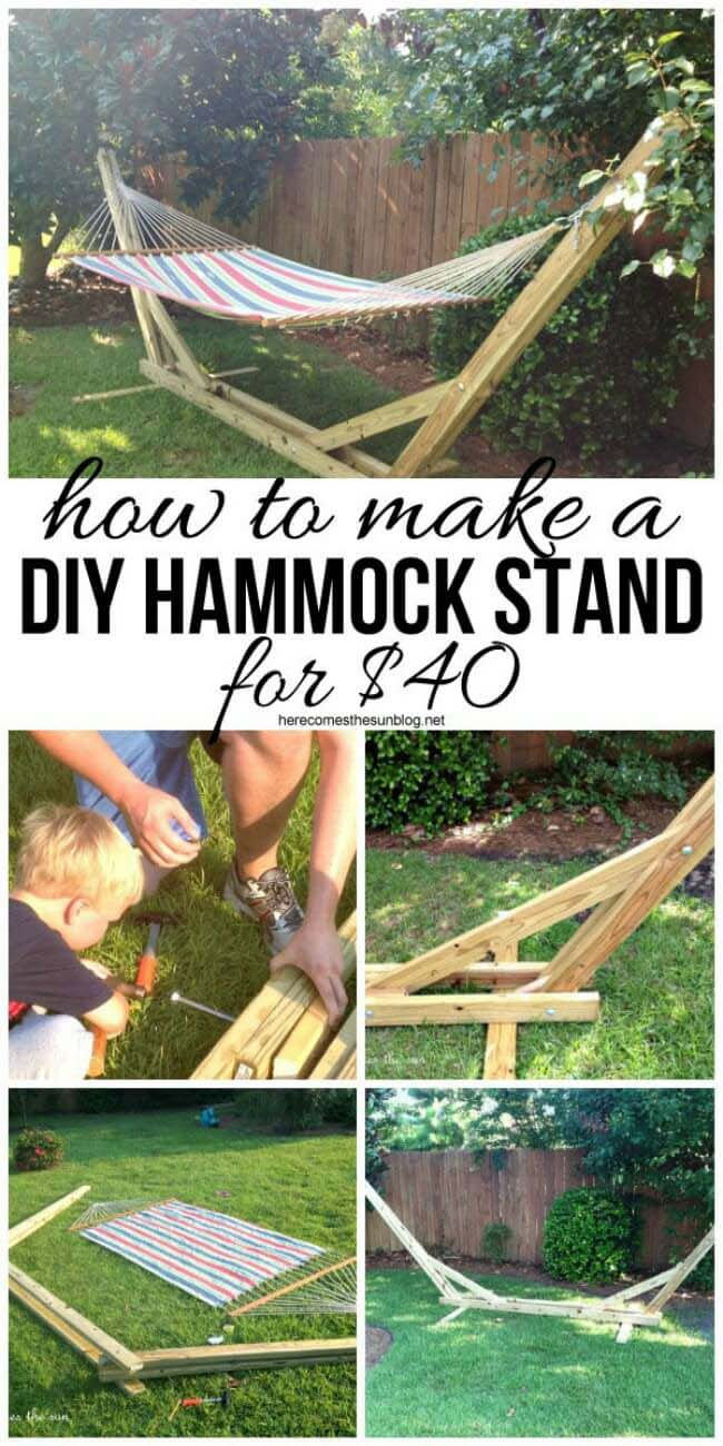 DIY Crafter's Hammock Stand #diy #project #backyard #garden #decorhomeideas
