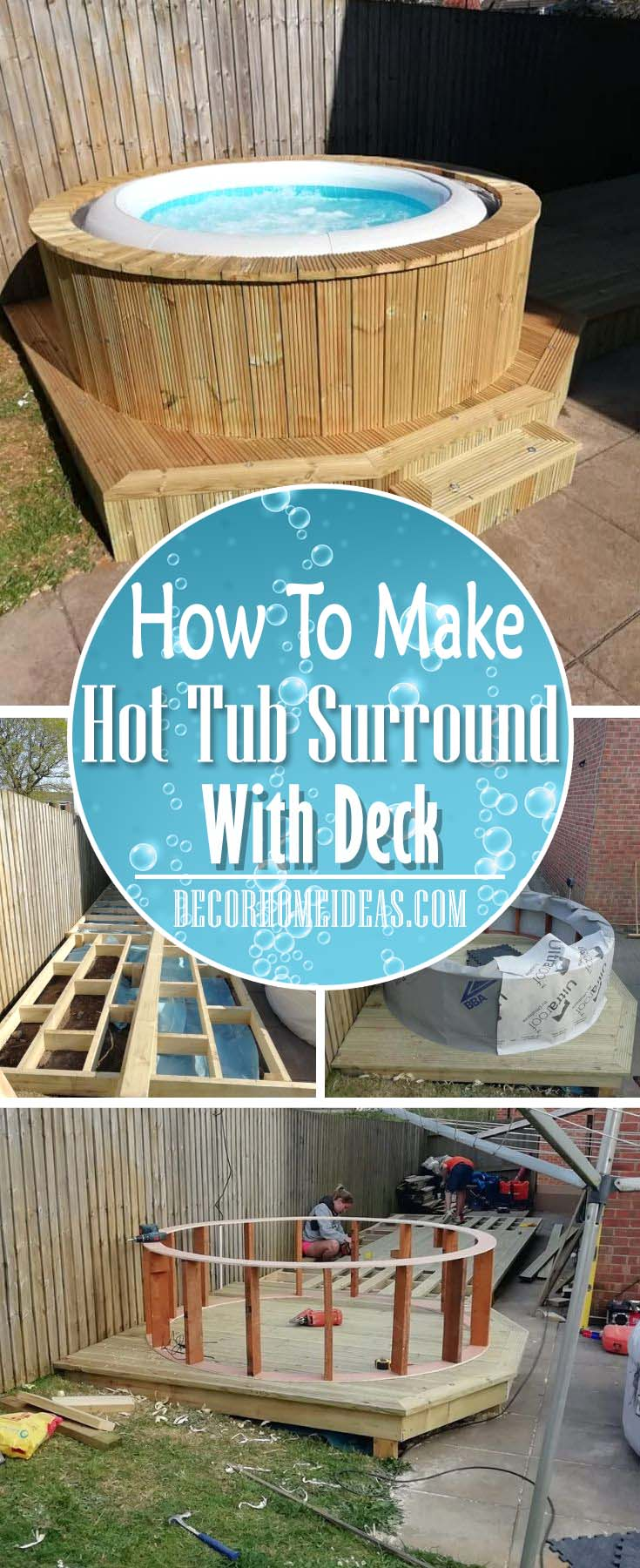 How To Make A Hot Tub Surround With Deck Decor Home Ideas