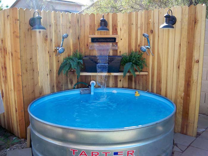 DIY Pacific Patio Pool #diy #project #backyard #garden #decorhomeideas