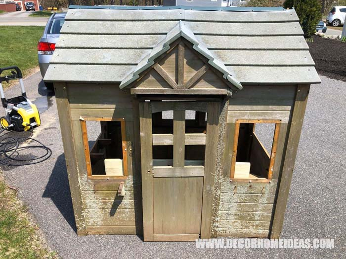 DIY Playhouse Farm Styled Before