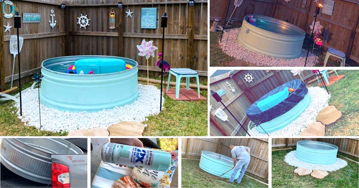 DIY Stock Tank Pool Summer Project