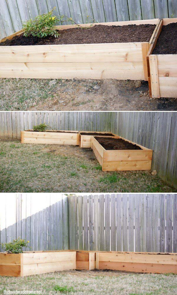 Fence Raised Garden Beds #raisedbed #garden #diy #cheap #decorhomeideas