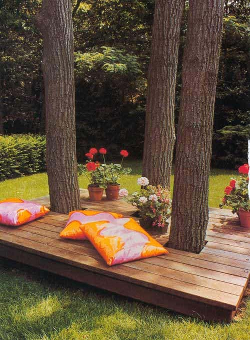 Floating Island Outdoor Deck #diy #project #backyard #garden #decorhomeideas