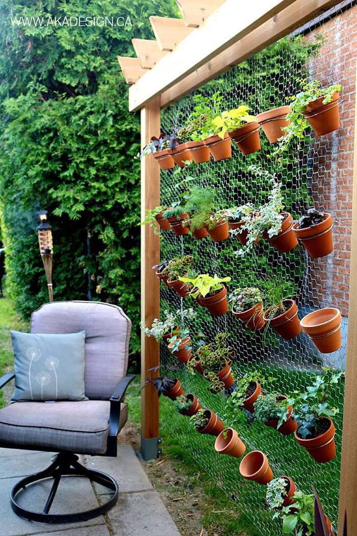 Flowering Hen House Chicken Wire Display #diy #project #backyard #garden #decorhomeideas