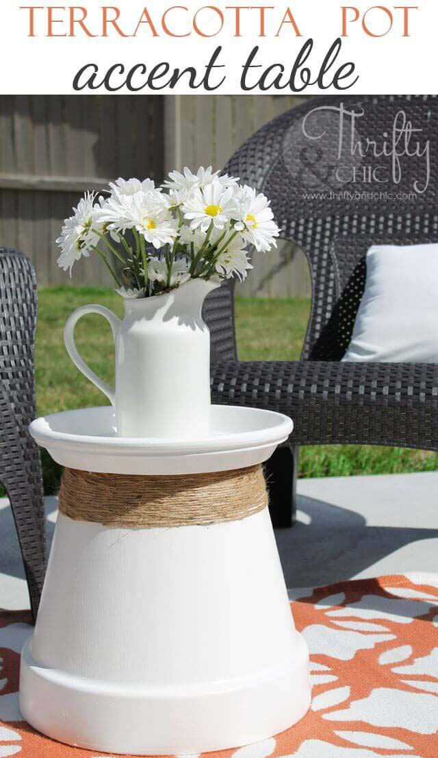 From Big Pot to Sweet Little Table #diy #porch #patio #projects #colorful #decorhomeideas