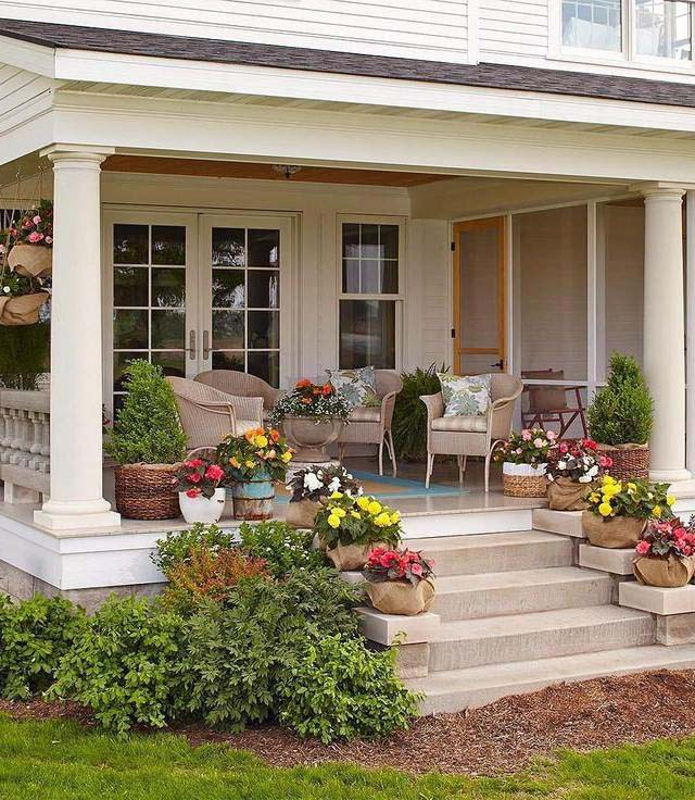 Front Porch Landscaping Around House