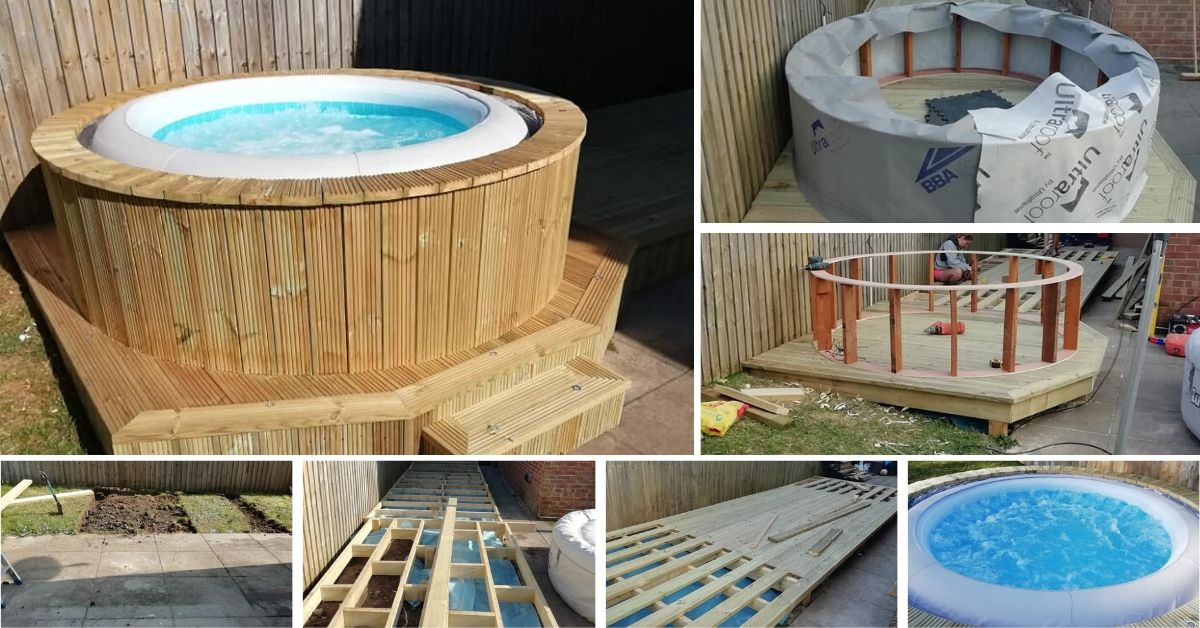 How To Make Hot Tub Surround With Deck