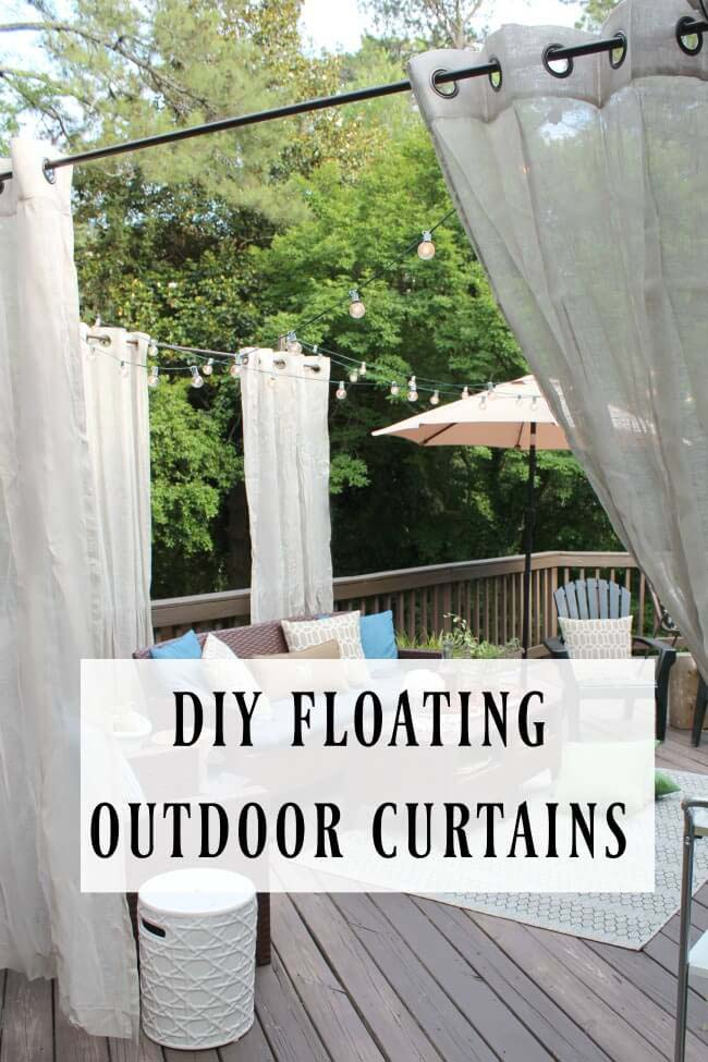 Instant Ambiance with Floating Patio Curtains #diy #porch #patio #projects #colorful #decorhomeideas