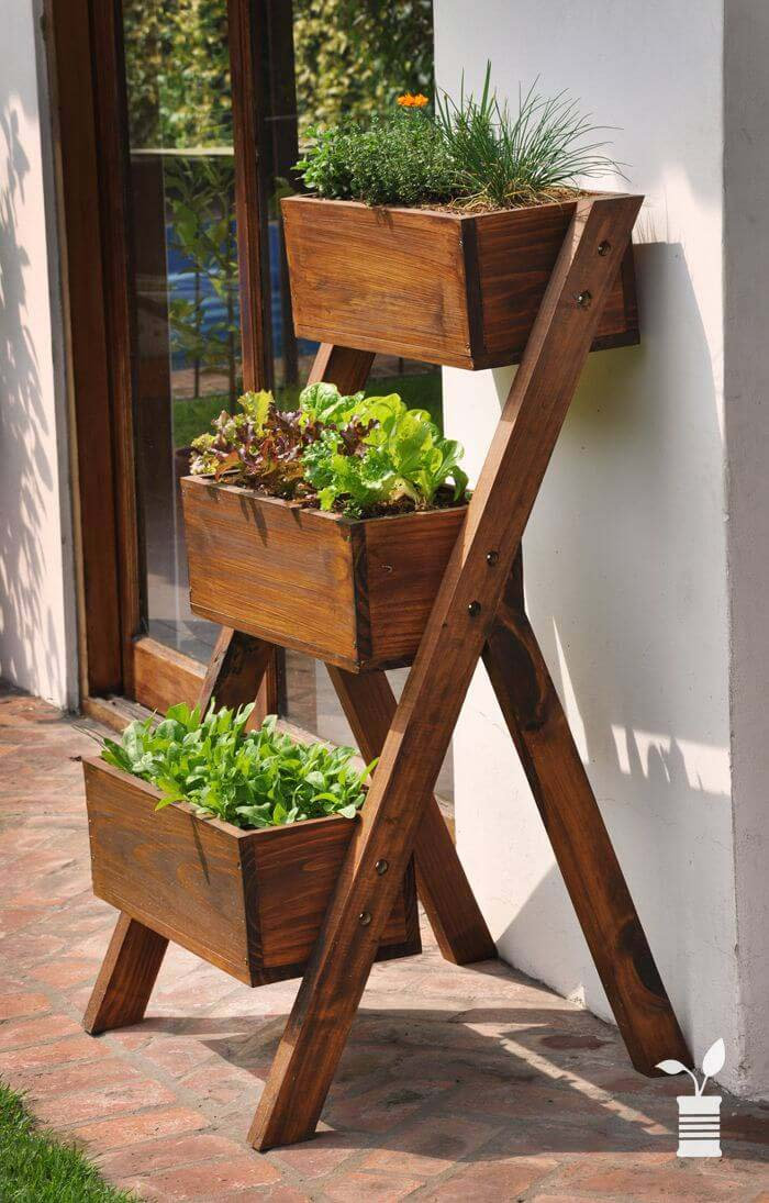 Ladder Box Herb Garden #diy #herbgarden #herbs #garden #ideas #decorhomeideas
