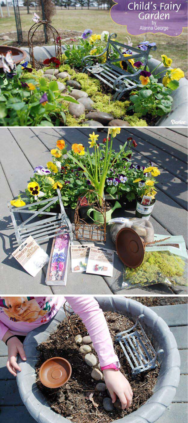 Midsummer Night Fairy Garden #diy #project #backyard #garden #decorhomeideas