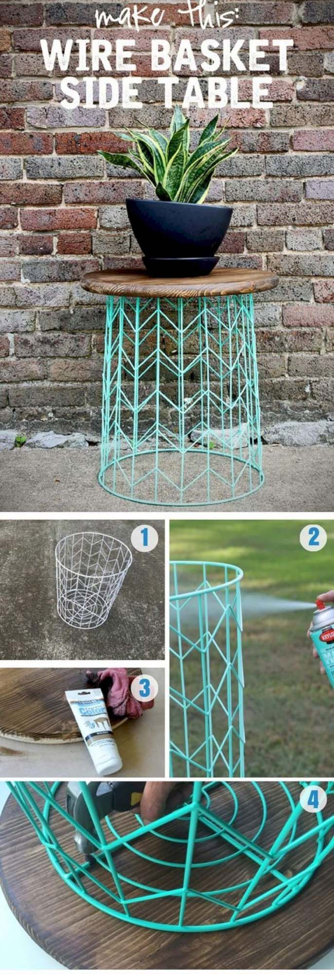 Mod Wire Side Table Project #diy #porch #patio #projects #colorful #decorhomeideas