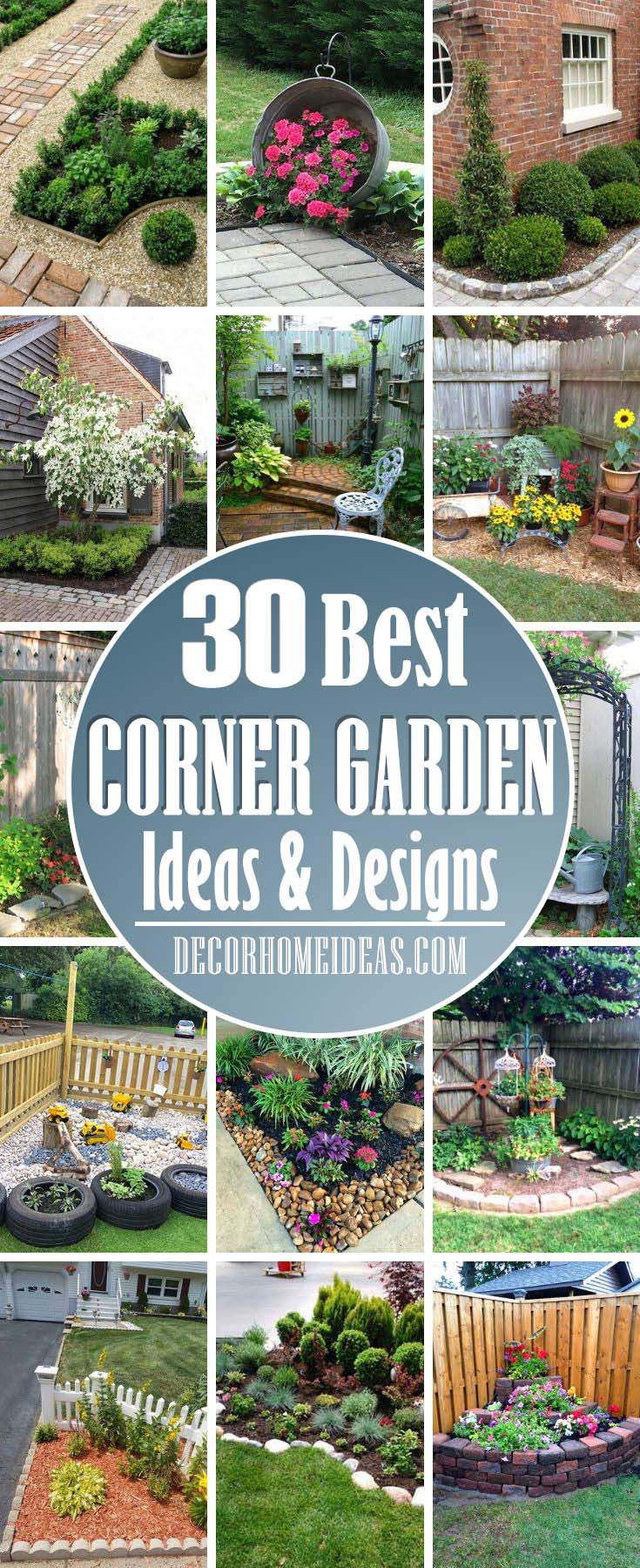 Best Corner Garden Ideas. Do you have a corner in your garden that needs to be enchanted? These beautiful ideas with flowers and decorations will make every corner garden the best one in your back