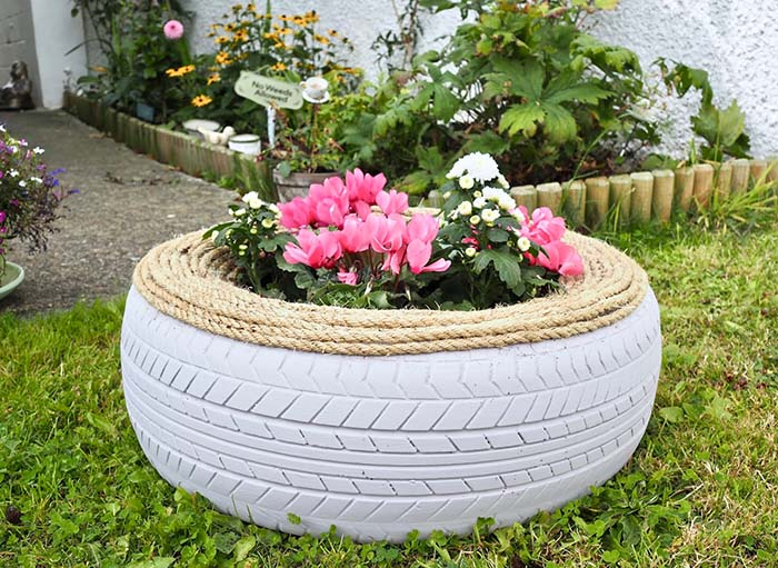 Old Tire Garden Planter