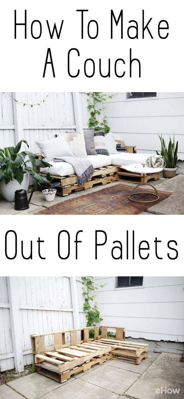 One-Picture Plans for a Pallet Couch #diy #porch #patio #projects #colorful #decorhomeideas
