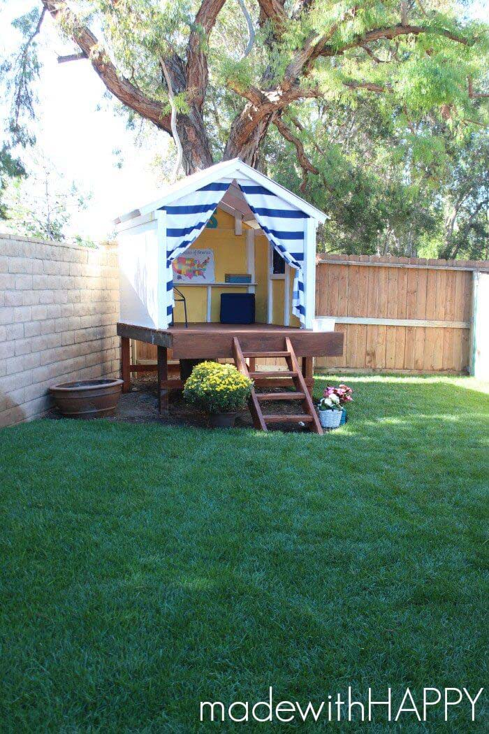 Petite Treeless Tree House #diy #project #backyard #garden #decorhomeideas