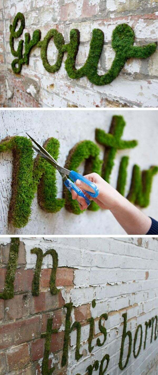 Planted Poetry Garden Wall Lettering #diy #project #backyard #garden #decorhomeideas