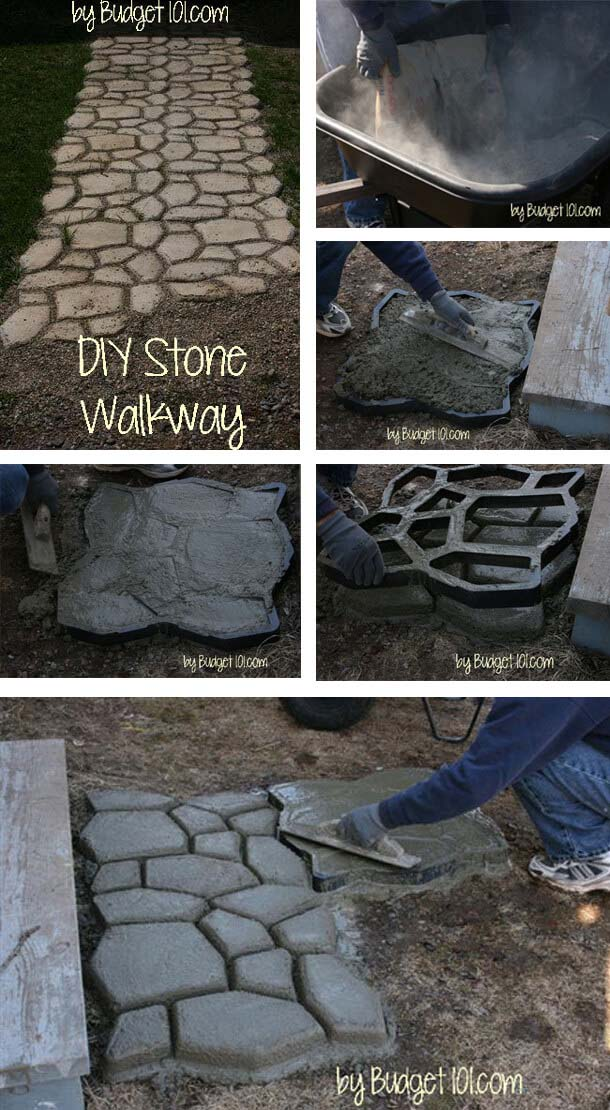 Road To Rome Stone Walkway #diy #project #backyard #garden #decorhomeideas