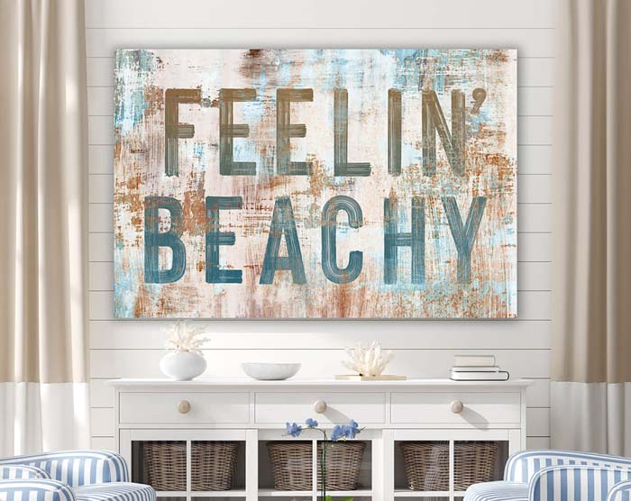 Rustic Feelin' Beachy Wall Art #diy #rustic #summer #decorations #decorhomeideas