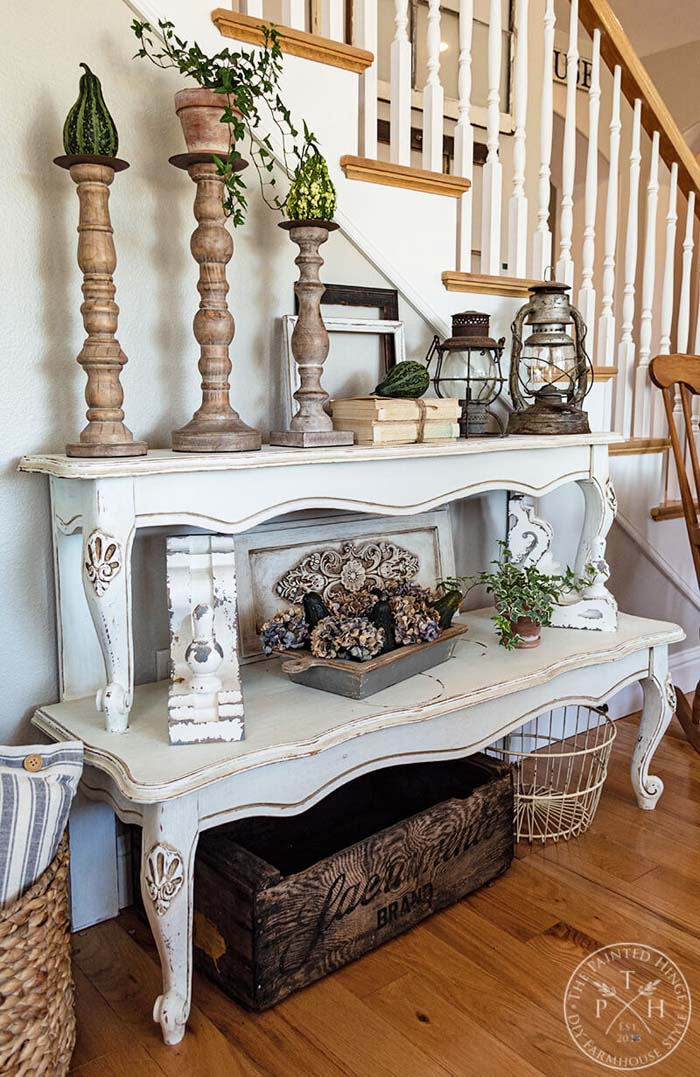 Rustic Shelves from Repurposed Coffee Table #diy #rustic #summer #decorations #decorhomeideas