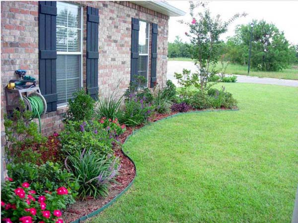 Simple Landscaping Around House