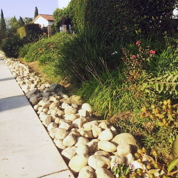 Stone Edging River Rock Landscaping Ideas