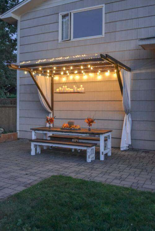 Summer Splendor Awning Style Canopy #diy #project #backyard #garden #decorhomeideas