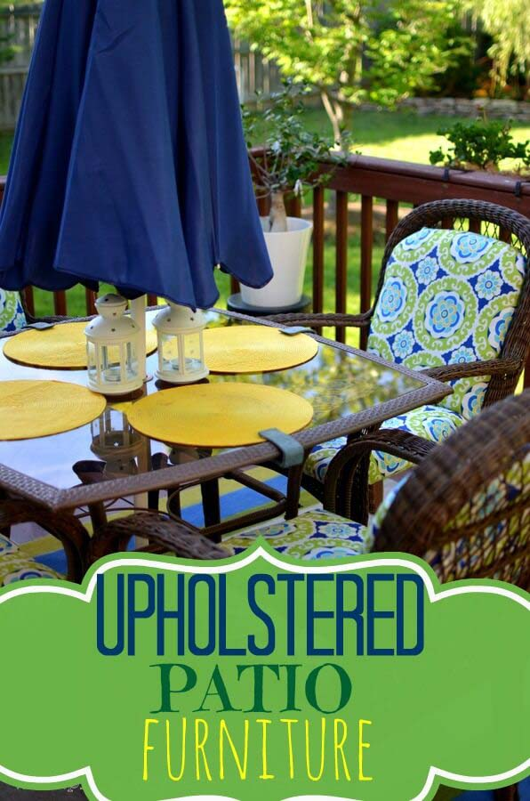 Uptown-Downtown DIY Patio Upholstery #diy #project #backyard #garden #decorhomeideas