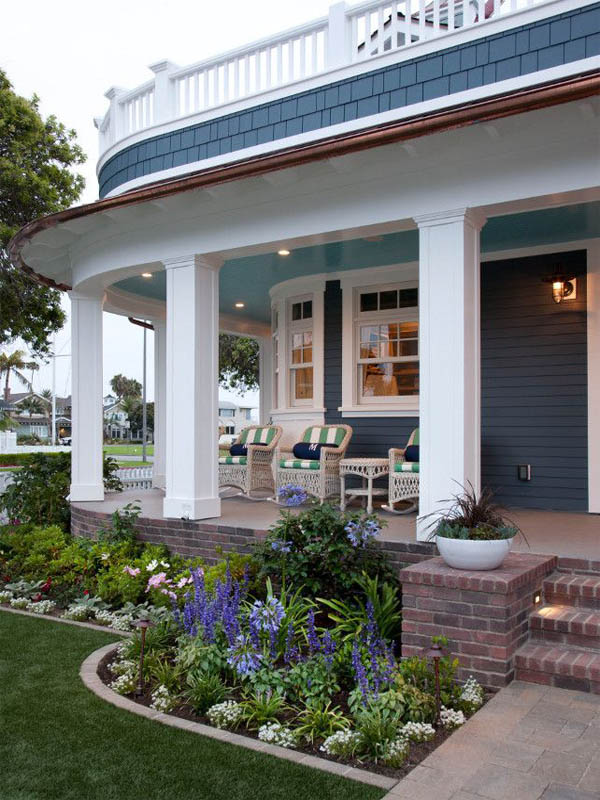 Victorian House Front Yard Landscaping