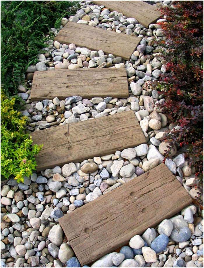 Amazingly Simple and Stylish Stepping Stone Idea #steppingstones #garden #backyard #pathway #decorhomeideas