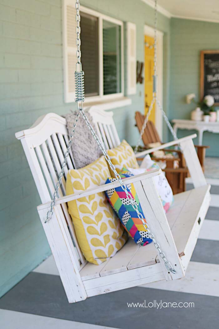 Baby Crib Into Porch Swing #porch #swing #bed #decorhomeideas