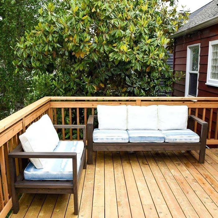 Beachy Natural Wooden Benches #diy #furniture #patio #decorhomeideas
