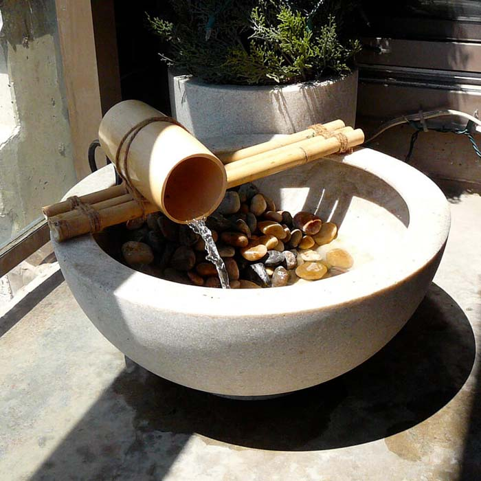 Beautiful Bamboo Trickling Waterfall Basin #diy #waterfeature #backyard #garden #decorhomeideas