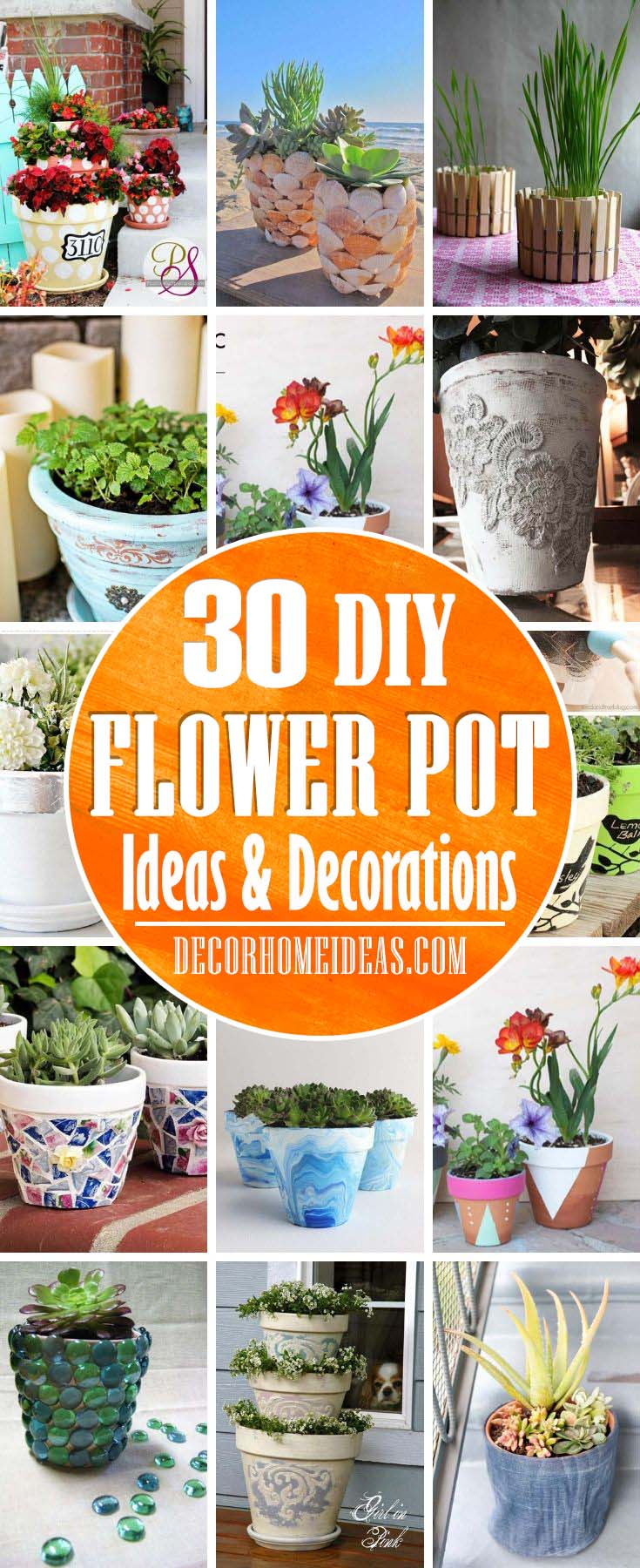 Beautiful DIY Flower Pot Ideas. Spruce up your garden with these easy DIY flower pot ideas. The best part is they are not expensive and can make a significant change in your garden. #diy #flowerpot #garden #flower #decorhomeideas