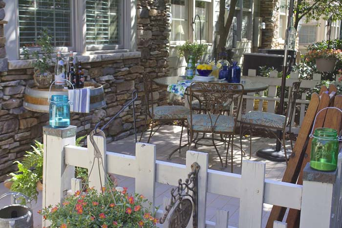 Beautiful Patio With Playful Features #diy #backyard #projects #decorhomeideas
