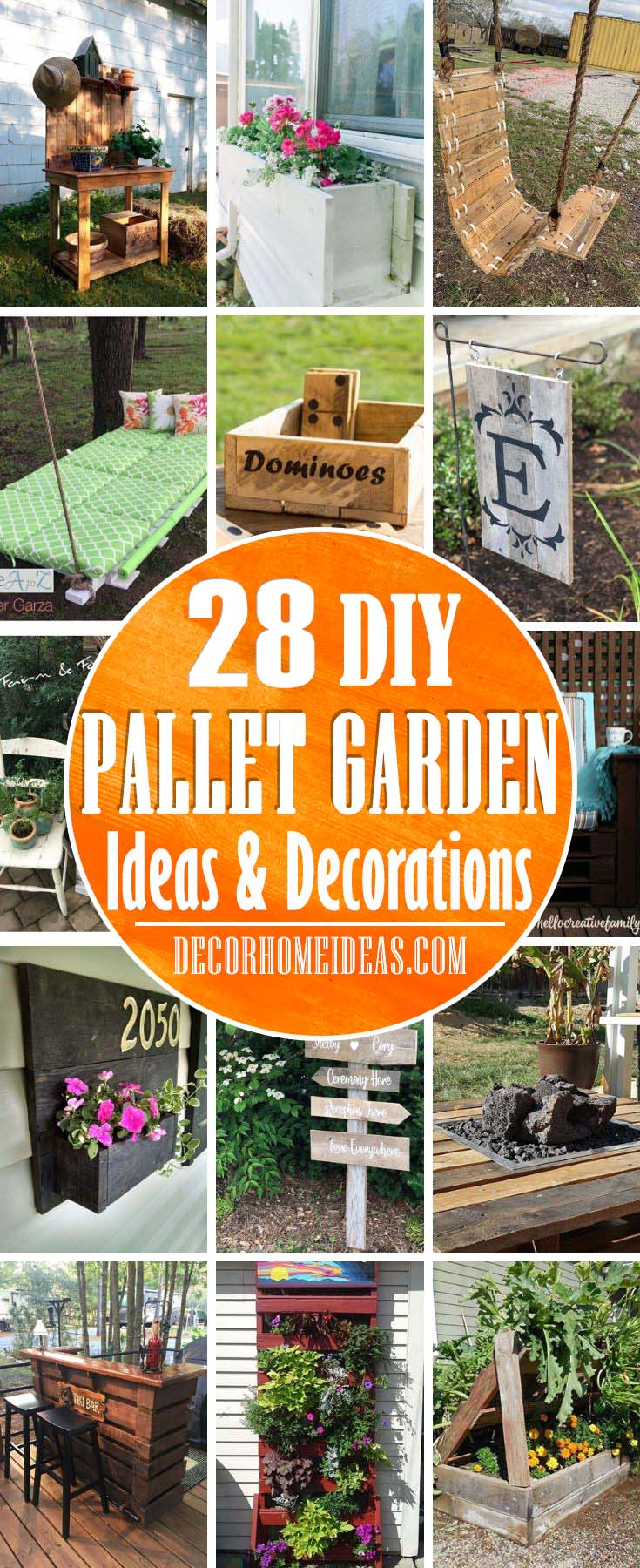 Best DIY Pallet Garden Ideas Need a budget-friendly garden swing or planter? Something that you can do very quickly and is really easy, but still looks good? Here are the best pallet garden ideas. #diy #pallet #garden #decorhomeideas