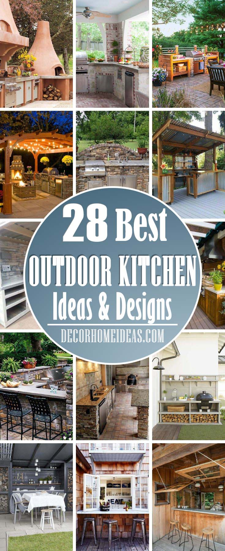Best Outdoor Kitchen Ideas And Designsл Get our best ideas for outdoor kitchens, including charming outdoor kitchen decor, backyard decorating ideas, and pictures of outdoor kitchens.