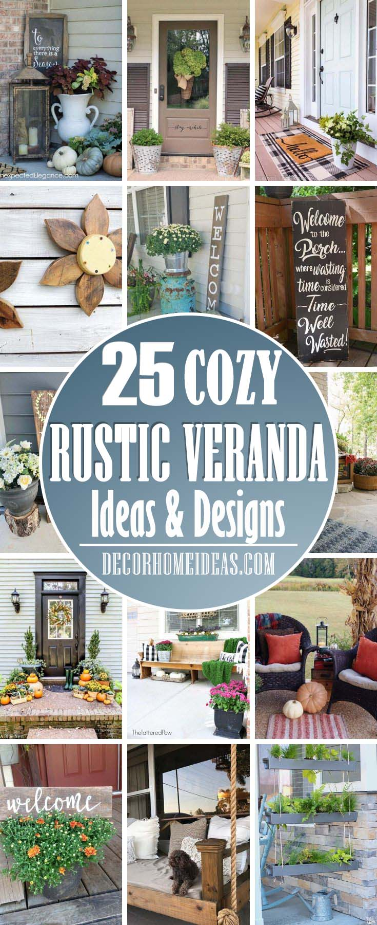 Best Rustic Veranda Decor Ideas. Decorate your veranda with these beautiful ideas and turn into a cozy and welcoming area. Add rustic and vintage decorations. #veranda #decor #rustic #decorhomeideas