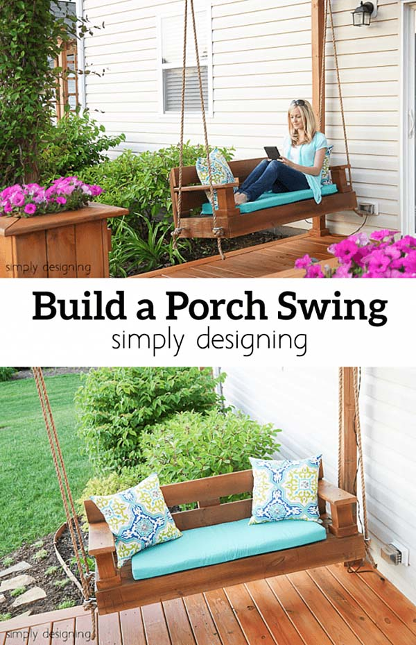 Build a Porch Swing #porch #swing #bed #decorhomeideas