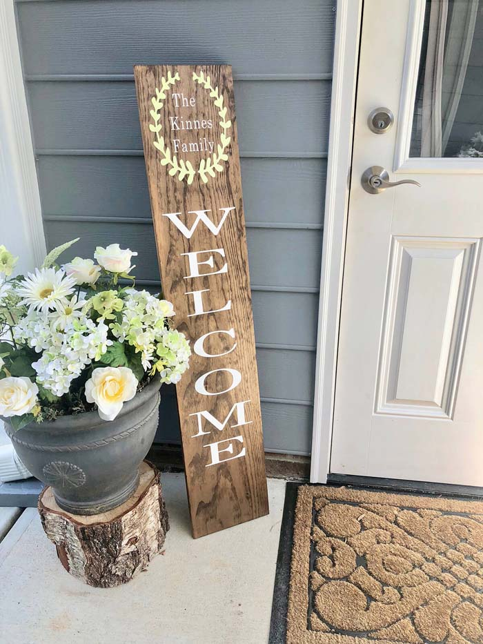 Customizable Family Name Front veranda Sign #veranda #decor #rustic #decorhomeideas